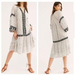 NWT Free People Vagabond Embroidered Tunic Top
